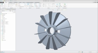 3D model en ontwerpen van een Ventilator