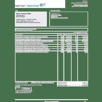offertes en bestellingen bij Metron Technics