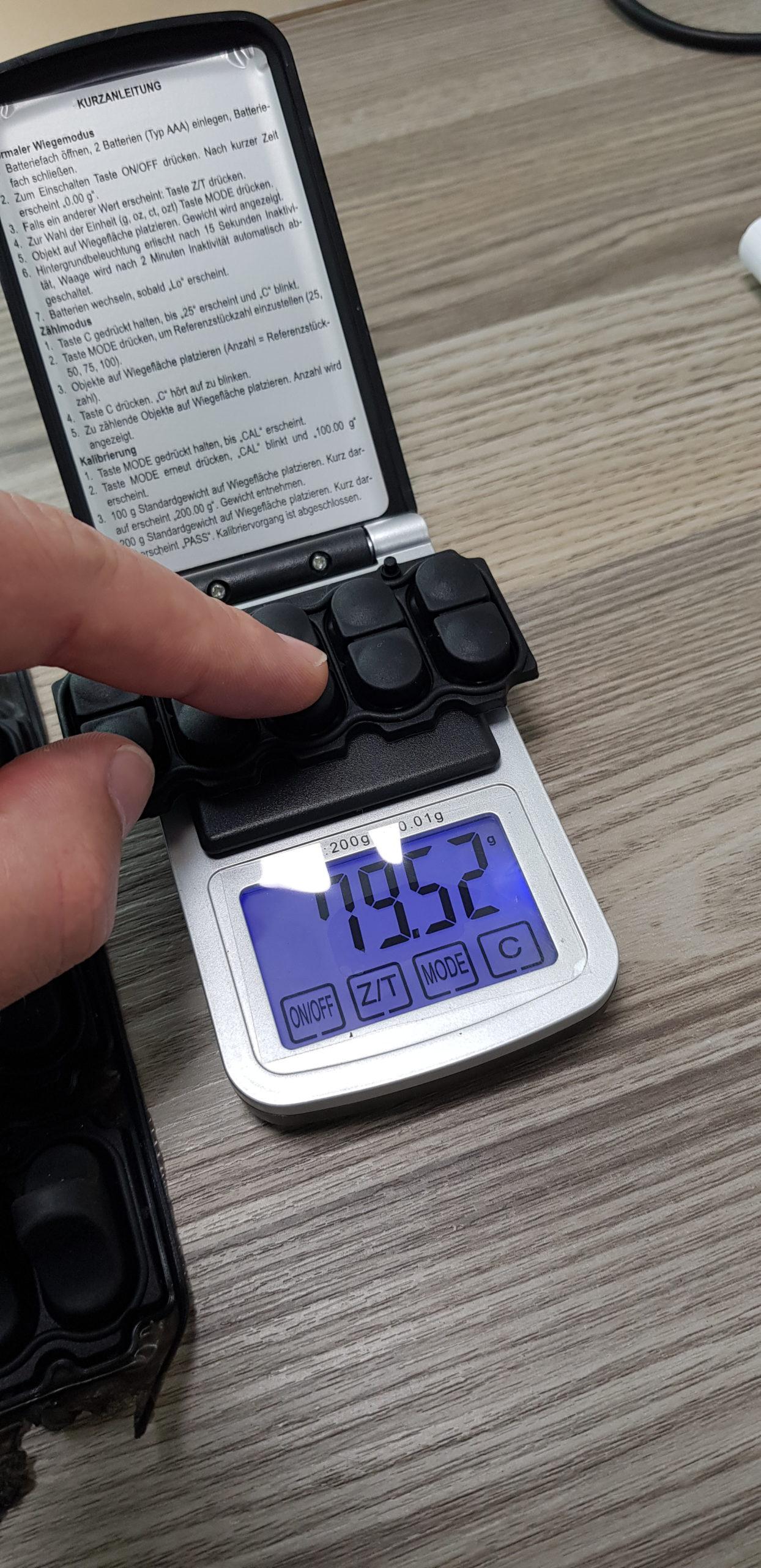 Rubber toestenbordje produceren en testen