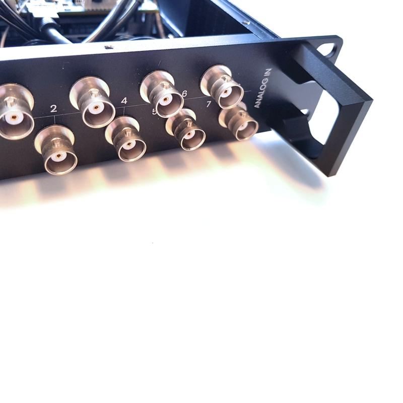 Detail van een 19 inch rack module op maat maken