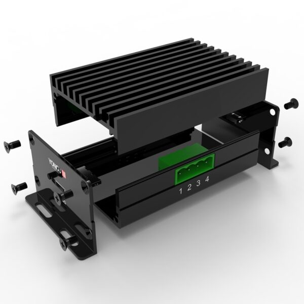 D1001432 – Aluminum elektronica behuizing 52W34H80L assemblage
