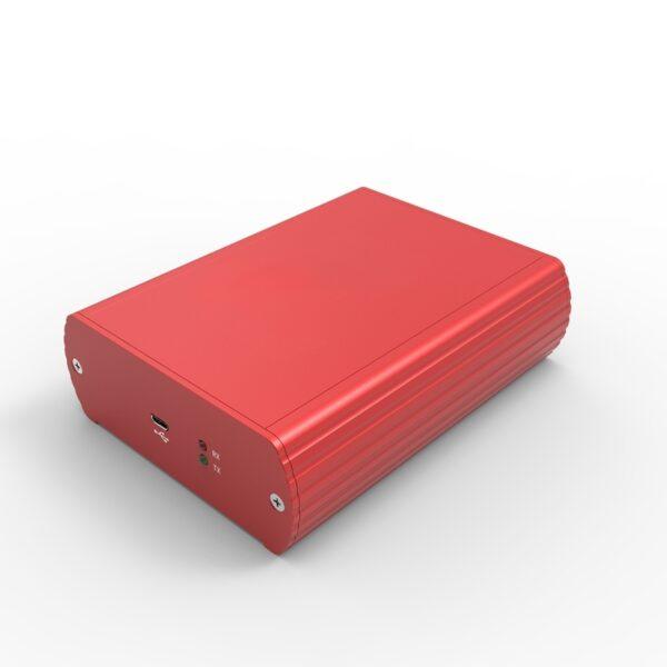 D1001444 – Aluminum housing 104.5B40H125L set rood