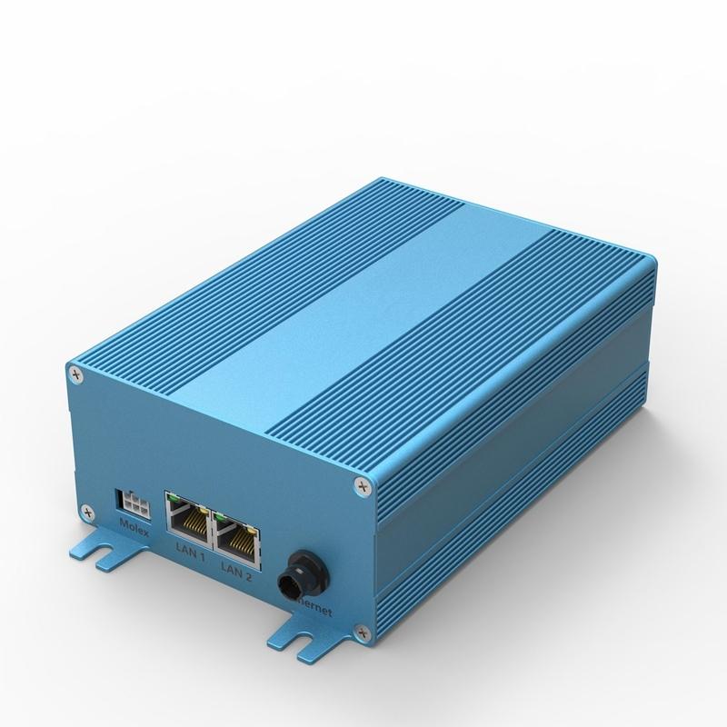 blauwe aluminium behuizing voor elektronica
