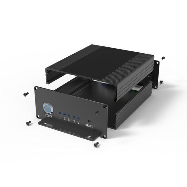 D1001448 – Aluminum electronic box 107B47H100L assemblage