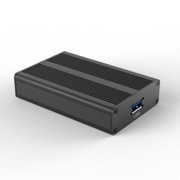 Zwarte behuizing voor elektronica