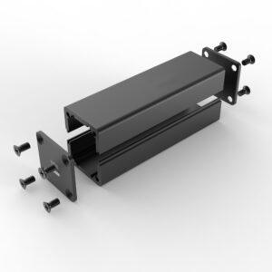 D1001431 – Aluminium behuizing voor elektronica 25B25H80L